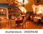 vintage cafe interior | Shutterstock . vector #34009648