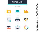business simple icon set | Shutterstock .eps vector #340098884