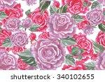 roses flower background.... | Shutterstock . vector #340102655