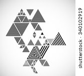 triangle . geometry striped... | Shutterstock .eps vector #340102919