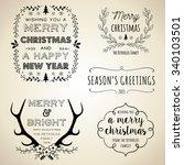 vintage christmas designs   set ...   Shutterstock .eps vector #340103501