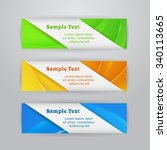 set of three horizontal bright... | Shutterstock .eps vector #340113665