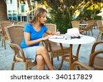 portrait of a young modern... | Shutterstock . vector #340117829