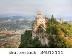 san marino high tower. hdr... | Shutterstock . vector #34012111