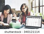 calender planner organization... | Shutterstock . vector #340121114