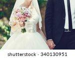 bride and groom | Shutterstock . vector #340130951