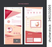 modern one page web design with ...