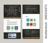 one page web design with...