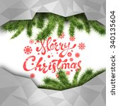 christmas and new year greeting ...   Shutterstock .eps vector #340135604