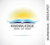 knowledge  logo design template ... | Shutterstock .eps vector #340141937
