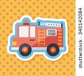 transportation fire truck flat... | Shutterstock .eps vector #340142084