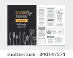 vector restaurant brochure ... | Shutterstock .eps vector #340147271