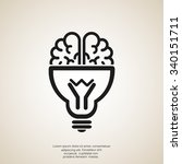 brain light bulb icon | Shutterstock .eps vector #340151711