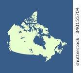 map of canada   Shutterstock .eps vector #340155704