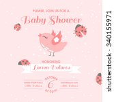 baby shower or arrival card  ... | Shutterstock .eps vector #340155971