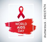 world aids day concept with... | Shutterstock .eps vector #340157474