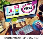viral technology global ... | Shutterstock . vector #340157717