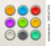 colorful game buttons. vector... | Shutterstock .eps vector #340167341