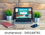 hotel booking website in a... | Shutterstock . vector #340168781