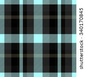 turquoise black checked... | Shutterstock . vector #340170845