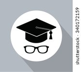 academic hat on flat style | Shutterstock .eps vector #340172159