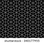 vector modern seamless sacred...   Shutterstock .eps vector #340177955