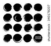 big set of vector circle brush... | Shutterstock .eps vector #340178207