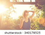 girl in a park. | Shutterstock . vector #340178525