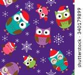 seamless christmas vector... | Shutterstock .eps vector #340179899