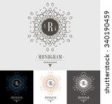set luxury logos template... | Shutterstock .eps vector #340190459