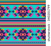 neon color tribal navajo... | Shutterstock .eps vector #340201799