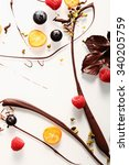 abstract artistic chocolate...   Shutterstock . vector #340205759