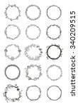 set of hand drawn floral wreaths | Shutterstock .eps vector #340209515