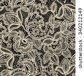 lace seamless pattern. vintage... | Shutterstock . vector #340212149