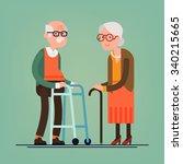 retired elderly senior age... | Shutterstock .eps vector #340215665