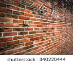 Old Cracked Red Brick Wall With ...