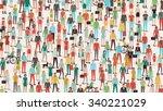 crowd of people banner  men ... | Shutterstock .eps vector #340221029