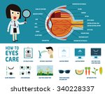 how to health care eyes. health ... | Shutterstock .eps vector #340228337
