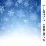 winter blue background with... | Shutterstock .eps vector #340230449