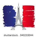 vector french architecture... | Shutterstock .eps vector #340233044