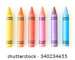 crayon drawing border... | Shutterstock . vector #340234655