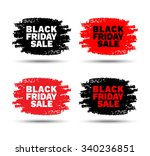set of black friday sale hand... | Shutterstock . vector #340236851