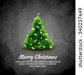 abstract christmas vector... | Shutterstock .eps vector #340237649