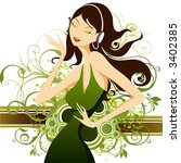 dancer | Shutterstock .eps vector #3402385