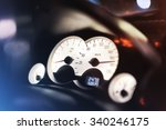 Small photo of Control panel in the car. Transgression. Off limits.Shallow depth of field. Selective focus on numbers.