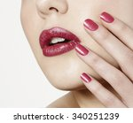 women close up mouth with... | Shutterstock . vector #340251239