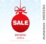 sale. christmas ball | Shutterstock .eps vector #340252361