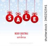 sale. christmas balls | Shutterstock .eps vector #340252541