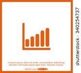 diagram  graph icon | Shutterstock .eps vector #340254737