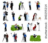 photographer and videographer... | Shutterstock .eps vector #340255214